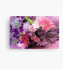 A Passion for Pink and Purple Metal Print