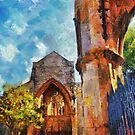 holyrood - church ruins - southampton - uk by DARREL NEAVES