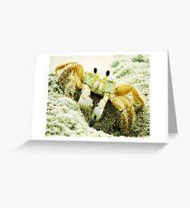 Beach Crabs Greeting Card