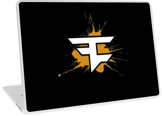 Faze Clan Logo Gold Laptop Skins By Guccimania Redbubble