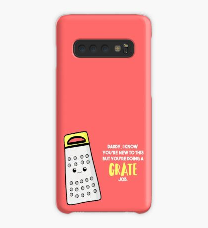 Funny First Father's Day  Shirt - New Dad - Birthday - Grate Job - Puns Case/Skin for Samsung Galaxy