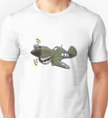 P-40 warhawk cartoon plane Unisex T-Shirt
