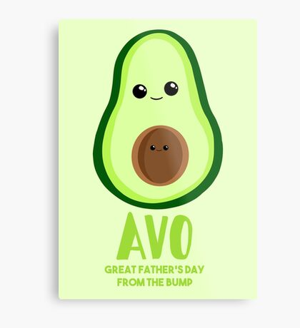 Avocado - Father's Day from the BUMP - Funny - Puns Metal Print