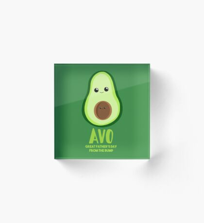 Avocado - Father's Day from the BUMP Shirt Gifts - Funny - Puns - Acrylic Block