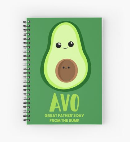 Avocado - Father's Day from the BUMP Shirt Gifts - Funny - Puns - Spiral Notebook