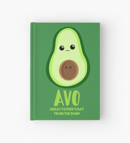 Avocado - Father's Day from the BUMP Shirt Gifts - Funny - Puns - Hardcover Journal