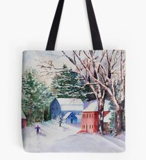 Snowshoeing in Strawberry Banke Tote Bag