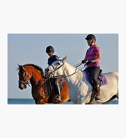 Go on Horsey give us a smile Photographic Print