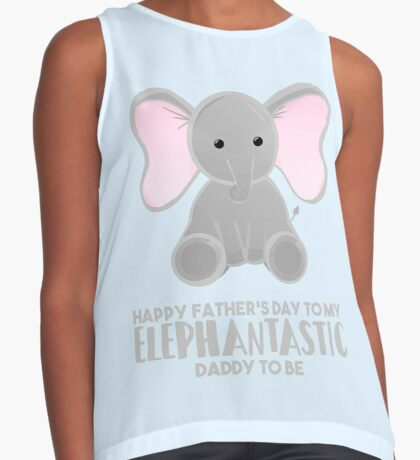 Fathers Day from the Bump  - Elephantastic Daddy to be Sleeveless Top