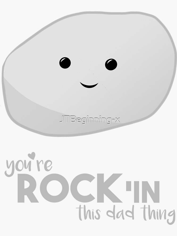 Funny Fathers Day  - Rock'in - dad thing - New Dad - Puns - Funny Birthday by JTBeginning-x