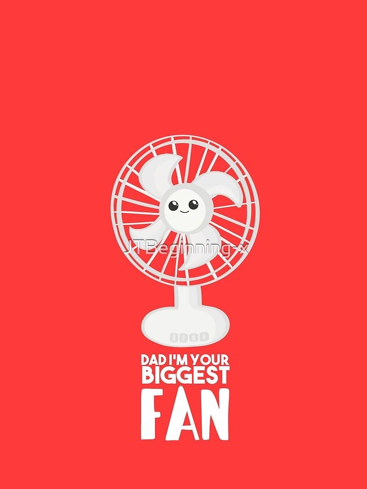 Funny Fathers Day Shirt - Dad I'm your Biggest Fan  - Birthdaay by JTBeginning-x