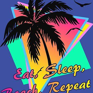 Essen Sie Schlaf Strand wiederholen von Boy-With-Hat