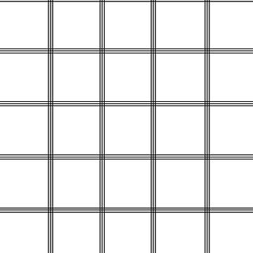 Minimal Black White Grid Glam #1 #line #decor #art  by anitabellajantz