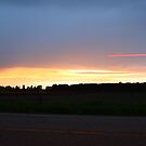 Light-Trailing Sunset by Michael Kelly