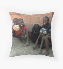 Rwandan Kids Throw Pillow