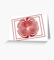 Red Twist Greeting Card