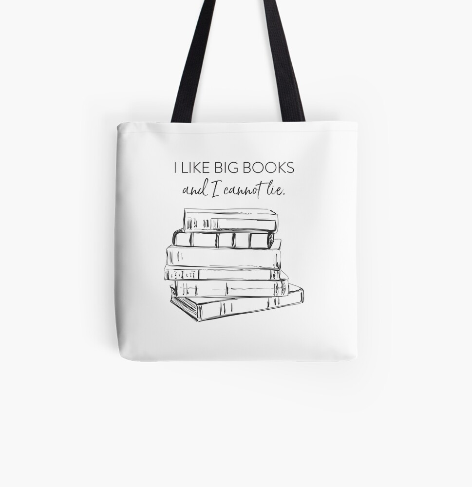 I Like Big Books All Over Print Tote Bag