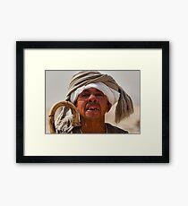 Toothless Egyptian midget man Framed Print