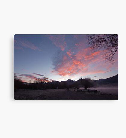 Frosty morning, KInloch on Lake Wakatipu, NZ Canvas Print