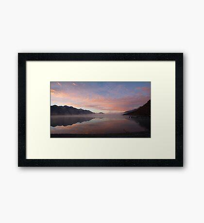 Lake Wakatipu (NZ) at dawn, looking south from Kinloch Framed Print