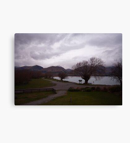 Lake Wakatipu foreshore at Kinloch, NZ Canvas Print