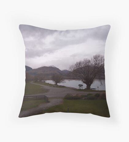 Lake Wakatipu foreshore at Kinloch, NZ Throw Pillow
