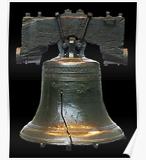 LIBERTY BELL, on black Poster