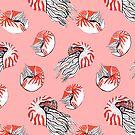 Nautilus on blush pink by MagentaRose