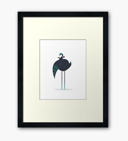 Melancholic Bird Framed Print