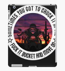 Biker Grumpy Old Unmedicated Biker Warning Custom Tshirt iPad Case/Skin