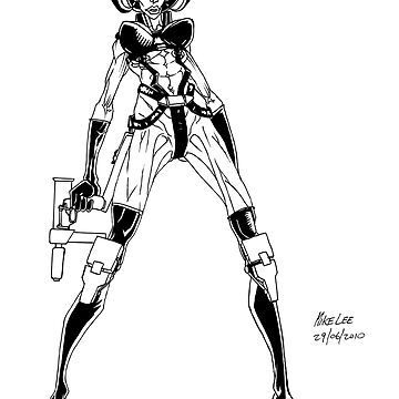 Aeon Flux - Inks by MikeLee