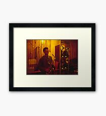 Jonathon Mustard waiting to be interviewed at JJJ in Sydney  Framed Print