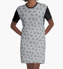 Kritzelmuster T-Shirt Kleid