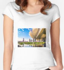 Artscience museum singapore Fitted Scoop T-Shirt