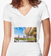 Artscience museum singapore Fitted V-Neck T-Shirt
