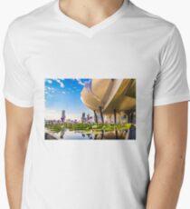 Artscience museum singapore V-Neck T-Shirt
