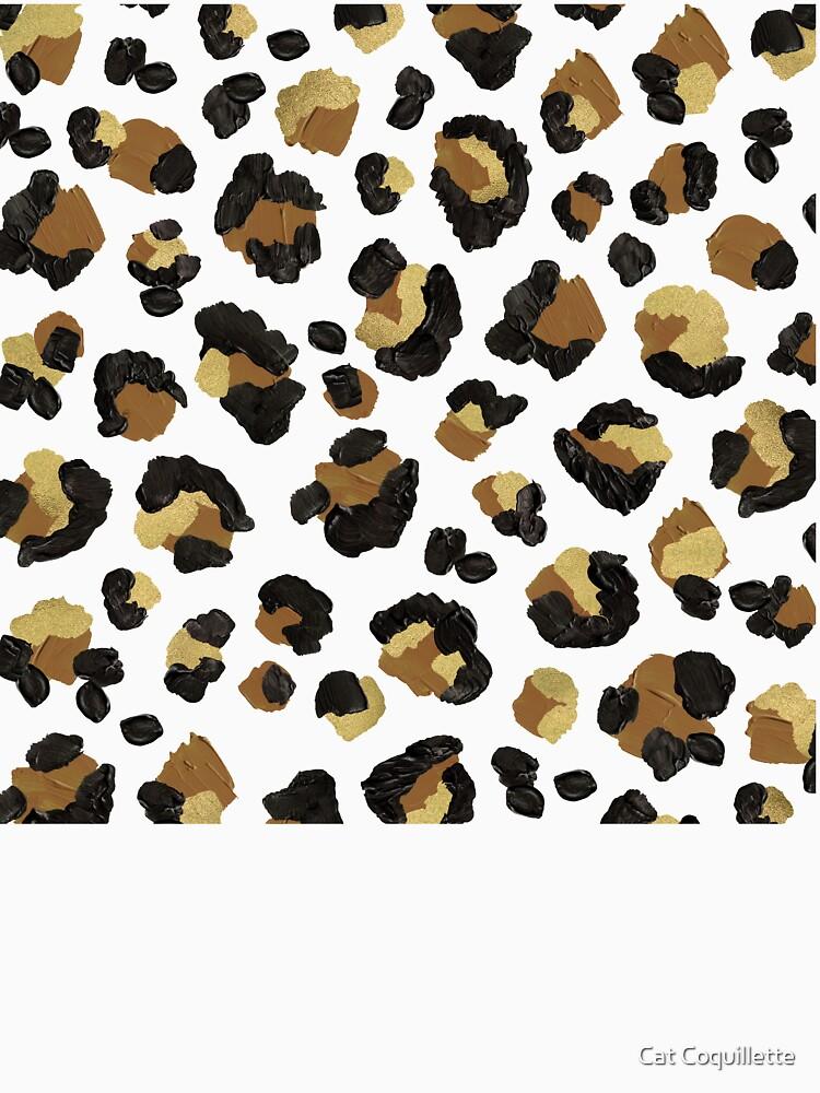 Leopard Print – Neutral & Gold Palette by catcoq