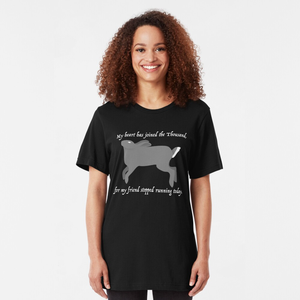 My heart has joined the Thousand... Slim Fit T-Shirt