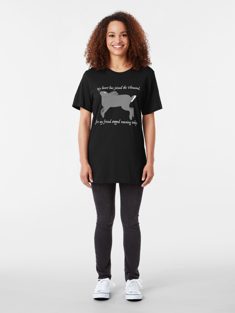 Alternate view of My heart has joined the Thousand... Slim Fit T-Shirt