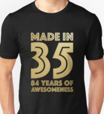 84th Birthday Gift Adult Age 84 Year Old Men Women Unisex T Shirt