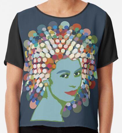 Disco Queen BLUE Chiffon Top