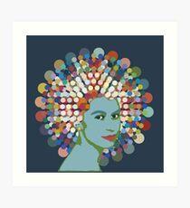 Disco Queen BLUE Art Print