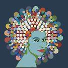 Disco Queen BLUE by BigFatArts