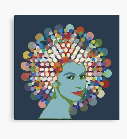 Disco Queen BLUE Canvas Print