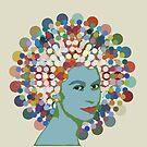 Disco Queen WHITE by BigFatArts