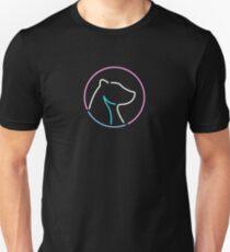 Camiseta ajustada Logotipo de neón 01