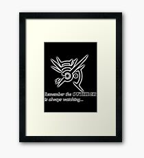 The Outsider is always watching Framed Print