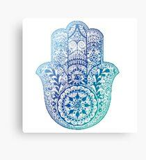 Blue Hamsa Canvas Print