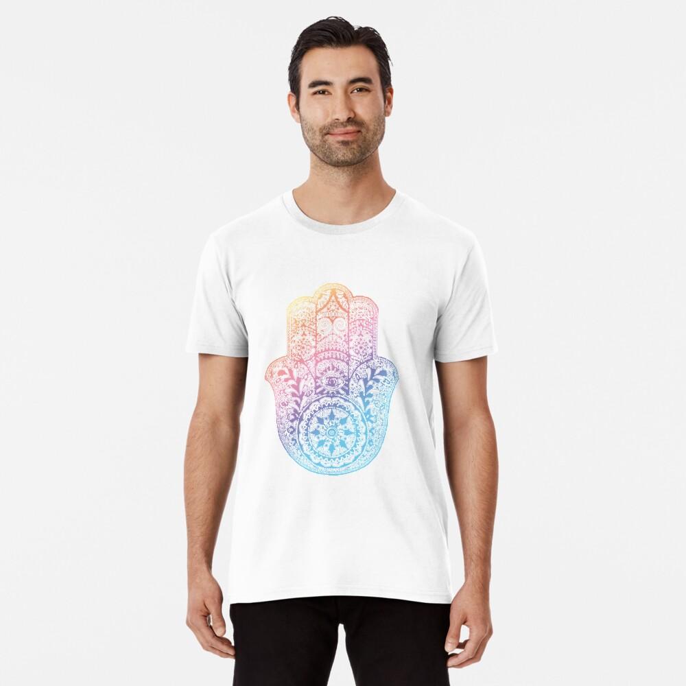 Regenbogen Hamsa Premium T-Shirt