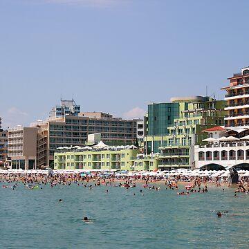 South beach Nessebar in summer Bulgaria by goceris